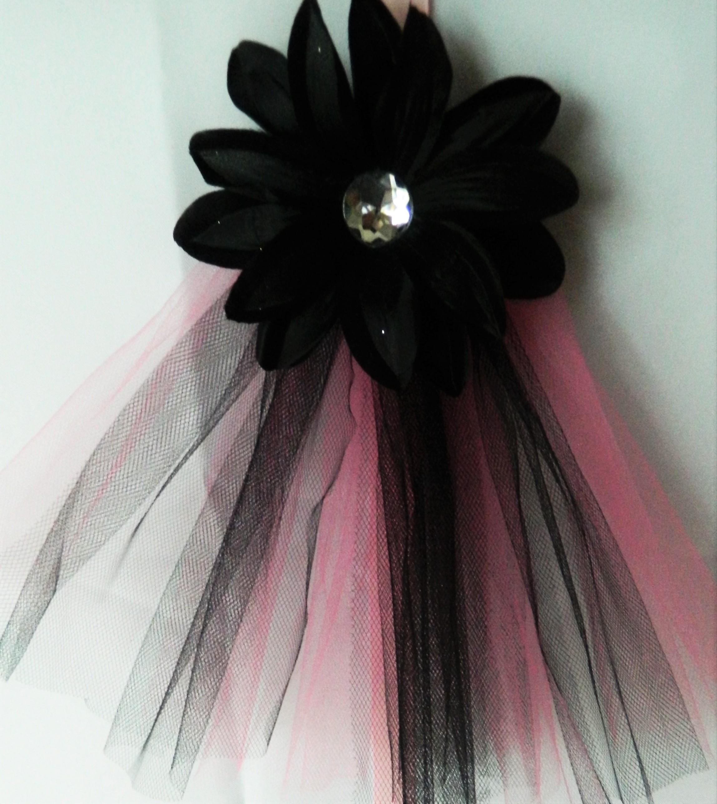 Bold Hot Pink And Black Hair Bow Crafty Sweet Sassy